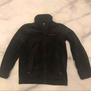 Boys black Columbia jacket sz 8 EUC